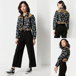 NWT UO Western Colorblock Floral Gas Jacket